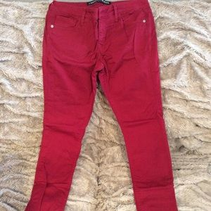 Express size 6 red jeans. Like new.